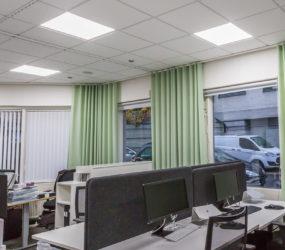 Persiennkompaniet får ny kontorsbelysning med energivande effekt