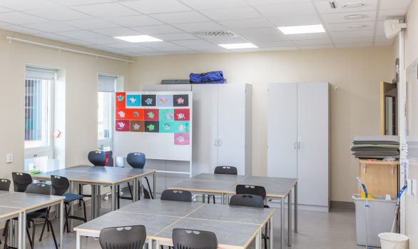 Dagsljusbelysning på nya Ransta skola i Sala