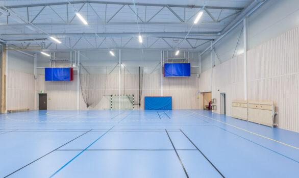 LED i gymnastikhall ger bättre förutsättningar för idrottsutövarna