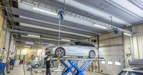 Bilprovningen i Rissne uppgraderar till LED-belysning